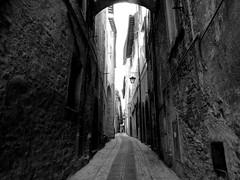 chiaroscuro (silviasalvi) Tags: italy monochrome blackwhite lane spoleto vicolo chiaroscuro umbria fujifilmx30