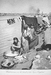 Baghdad Washerwomen (Terterian - A million+ views, thanks.) Tags: vintage river photography book photos brothers photographic views baghdad times plates collectible rare tigris abdul 1925 studies kerim basra irag basrah washerwoman bygone hasso cemera