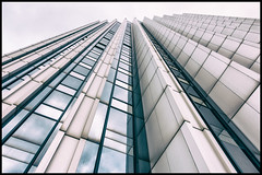 Zigzag (upwards) (shlomo2000) Tags: building texture architecture skyscraper concrete outside deutschland sony saxony communism frame ddr toned rahmen brutal enormous karlmarxstadt