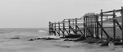 Wave breaker (jipan) Tags: beach indonesia long exposure helipad balikpapan nex5t