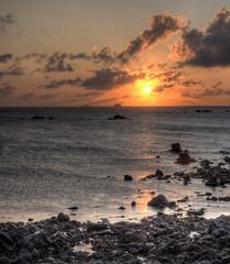 Sunset over Ortac on Alderney