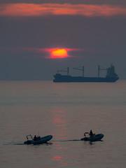 Winter Sun (FButzi) Tags: sea orange sun mar olympus cargo genoa genova skatepark omd giardini ligure govi ligurian em10 40150mm f4056r