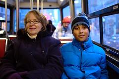 Sharon & Nico (Ian Muttoo) Tags: toronto ontario canada ttc gimp sharon streetcar nico torontotransitcommission ufraw dsc52381edit