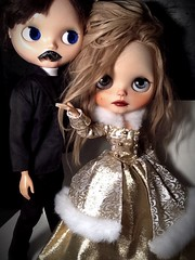 Blythe-a-Day January # 18 Mustache: The Queen & The Priest