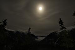 Moonlit Night on Shames Mountain (LisaHufnagel) Tags: nightphotography moon mountain canada mountains beautiful night photography nikon bc nightscape terrace britishcolumbia lisa columbia tokina moonlight british northern d800 northernbc hufnagel terracebc lunarhalo shamesmountain 1116mmf28