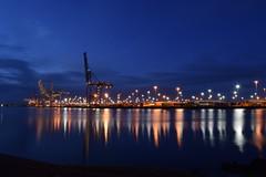 Southampton Docks (mme1998) Tags: longexposure night docks dark evening coast lowlight nikon ship hampshire container 1855mm containership southampton southamptondocks nikond3300 d3300