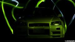 Incredible Hulk GTR (Liam Grange Design and Photography) Tags: longexposure green skyline incredible gtr r34 rb26 liamgrange