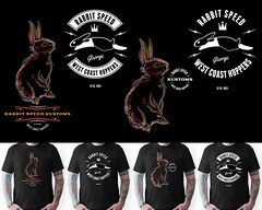 Rabbit Speed tshirts vol. one (Mr. Sid) Tags: rabbit bunny tattoo illustration speed design stickers racing hotrod tshirts pinstripe kustoms