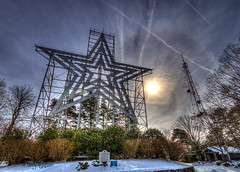 X's and O's Roanoke Star (Terry Aldhizer) Tags: winter sky dog sun mountain snow mill weather star virginia hug kiss o january halo kisses os x roanoke terry hugs xs optic aldhizer terryaldhizercom