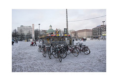 Bicycles (Pictures from the Ghost Garden) Tags: street winter people urban snow architecture buildings suomi finland landscape nikon turku bikes bicycles dslr urbanlandscape 18105mm d7100