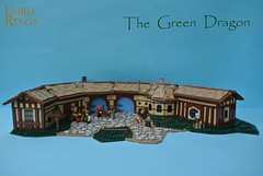 The Green Dragon (-Balbo-) Tags: green mill bag inn dragon lego lord lotr rings creation end shire hobbit der herr frodo bilbo ringe the moc auenland beutelsend sandyman´s
