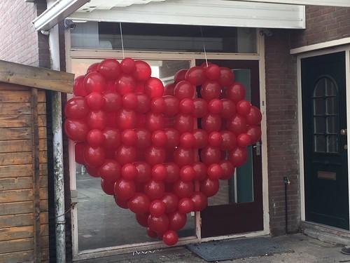 Ballonnenhart Valentijn van Doorknoopballonnen 2m x 2m