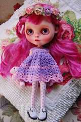 DSC_0083 (2) (Lindy Dolldreams) Tags: pink girl rose hair doll crochet custom blythedoll rosezie noraooakcustomblythe