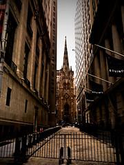 Wall St (nayannediniz) Tags: street nyc winter ny newyork cold arquitetura trinity trinitychurch wallstreet wallst