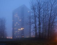 Hgaholm I (Gustaf_E) Tags: mist skne vinter sweden sverige malm dis stad dimma kvll hghus holma frort miljonprogram hgaholm almvik