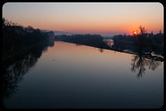 Quiet (franz75) Tags: sky italy sunrise river reflex nikon italia alba fiume dora piemonte cielo piedmont ivrea riflesso d80