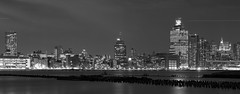 The Widest Smile (• estatik •) Tags: county new york city light blackandwhite bw panorama white ny black holland building water monochrome skyline night buildings reflections river dark flow lights evening hall long exposure quiet nocturnal darkness skyscrapers manhattan nj tunnel southern busy newport jersey tribeca hudson pilings nocturne hoboken waterway ventilation pavonia nocturnes pavonianewport