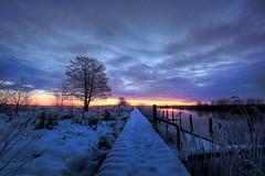 Dawn (jarnasen) Tags: morning winter sky sunlight lake snow tree clouds composition sunrise landscape dawn early frozen stream frost fuji sweden outdoor path jetty tripod nordic sverige scandinavia processed hdr roxen motalastrm xt1 kungsbro nordiclandscape fujifilmxt1 xf1024mmf4 jarnasen