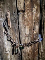 Door locked (PaulHoo) Tags: door wood shadow france grave lumix la closed lock vignetting locked vignette 2013