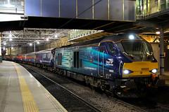 68005, Edinburgh Waverley, March 2nd 2016 (Southsea_Matt) Tags: 68005 class68 drs directrailservices edinburghwaverley scotland lothian unitedkingdom canon 60d sigma 1850mm march spring 2016 rail railway train transport vehicle