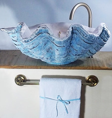Blue Sink (LittleGems AR) Tags: ocean blue sea sculpture sun beach home giant bathroom shower aquarium soap sand bath sink unique decorative aquamarine shell craft style toilet towel clam basin special clean shampoo taps wash seashell pearl nautical reef decor spa luxury opulent fossils clamshell mollusks cloakroom bespoke tridacna sculpt crafted gigas facetowel