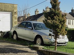 1999 ROVER 75 (shagracer) Tags: 2 abandoned up dead neglected forgotten slime grime dying bins decaying laid stood unloved sorn gruby v530okm