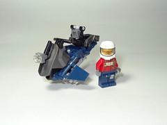 "Intentor Inc. KFB-01 ""Kigen"" Prototype (Intentor) Tags: lego bionicle speeder hover lsb antigravity"