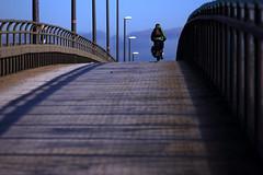 Über die Brücke (01) (Rüdiger Stehn) Tags: holtenauerhochbrücke 2016 2000er 2000s europa mitteleuropa deutschland norddeutschland germany schleswigholstein menschen leute brücke strase canoneos550d kiel