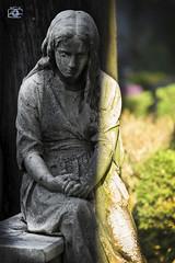 Into the darkness (Luca Romano) Tags: life light grave statue pose death lights darkness riposo morte eternity statua luce vita oscurit togoon