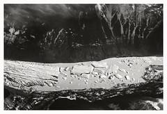 Death of a Glacier (R. Drozda) Tags: winter bw mountains aerial glacier northamerica iceberg glaciallake glaciallandscape drozda february2016