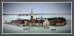 San Maggiore from St Marks Campanile (jdl1963) Tags: venice italy water saint st island san basilica lagoon marks campanile maggiore