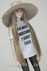 Lilith in Moschino tee (Jonlexx) Tags: up fashion night scott toys doll all jeremy moschino tee royalty lilith integrity