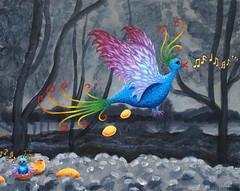 Pájarooo (LiiiMaja) Tags: bird colors eggs surrealistic oilpaint songbird goldeneggs
