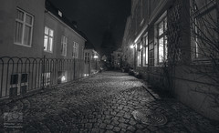 -Night stalker- (Erik_Chavez) Tags: longexposure nightphotography norway night norge blackwhite back alley cityscape sony bergen hdr visitnorway visitbergen