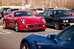 Alfa Romeo 8C Competizione (Jeff_B.) Tags: auto red classic cars car newjersey italian automobile fast competition alfa alfaromeo sportscar dunkindonuts exotics croissants 8c atlantabreadcompany competizione morrisplains bergern extotic carsandcaffe carscroissant