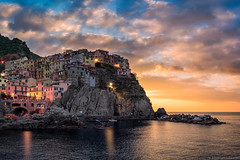 """Divine Morning  Manarola, Italy (Mark Iandolo) Tags: travel italy sunrise europe italia liguria wanderlust explore cinqueterre quaint manarola italianriviera enchanting"