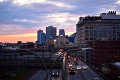 DSC_0171 (IntExp7) Tags: nyc newyorkcity sunset ny newyork cars highway downtown traffic manhattanbridge expressway bqe lowermanhattan brooklynqueensexpressway downtownmanhattan