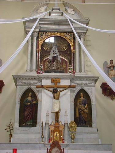 Altar Mayor, Parroquia de Santa Cruz y la Soledad, Cdad. de México, CDMX.