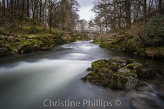 The English Lake District - Near Skelwith bridge (Christine's Phillips (Christine's observations)) Tags: longexposure winter summer water beautiful river spring bare smooth lakedistrict coniston ambleside windermere christinephillips