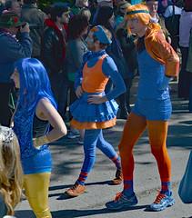 We're All the Same But Different (BKHagar *Kim*) Tags: blue people orange beads colorful neworleans crowd parade marching nola mardigras kreweoftucks bkhagar mardigrassaturday