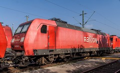 0525_1006_10_10_Wanne_Eickel_RaiLion_145_005 (ruhrpott.sprinter) Tags: railroad train germany logo deutschland diesel outdoor natur eisenbahn rail zug db cargo nrw passenger fret rag ruhrgebiet freight mak locomotives 155 logistics gaf 185 225 232 lokomotive volker 145 140 railion pkp wanneeickel sprinter ruhrpott 294 gter 363 364 1206 heitkamp reisezug stopfmaschine kirow ellok ler schotterplaniermaschine schwellentransportwagen thermohaubenzug