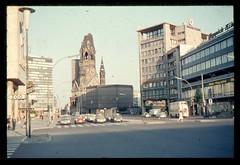 (Kaopai) Tags: west color berlin vintage dia 1966 architektur farbe farbig westberlin historisch westen gedchniskirche farbfoto farbdia