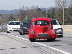 Blackjax Bar 4/10/2016 Red Willys Truck (Speeder1) Tags: show street cruise two hot classic ford chevrolet car bar rat pennsylvania muscle pa lane tavern rod 55 goons aces willys gasket blacktop eights birdsboro blackjax