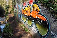 IMG_9813a (Geoff D E Clarke (gdeclarke)) Tags: river graffiti hertfordshire hitchin hiz ickleford walsworth purwell