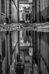 Blurred:Serenity (Away for a week.....) Tags: west reflection puddle alley y police reflected alleyway et blanc whiteblanco westnorth policest streetmanchesternorth englandblurblack negrobaz matthewsbwnoir