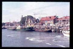 (Kaopai) Tags: travel holiday haven color tourism port ship dia insel ameland hafen ferien tourismus farbfoto 1970er 1970th farbdia