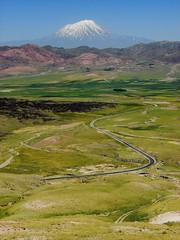 Agri / Ar Mountain (Senol Demir) Tags: road mountain green turkey trkiye curve agri dogubeyazit ar arda concordians agrimountain
