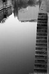 To Heaven (danielkoehlersphotos) Tags: vienna wien blackandwhite bw reflection water monochrome mirror wasser heaven outdoor stairway treppe spiegelung infinite unendlich donaukanal einfarbig danielkhler danielkoehlersphotos