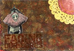 facing our ogres AMA senders choice March (CaZaTo Ma) Tags: collage mixedmedia postcard ama mailart swapbot hmpc