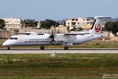 Ryukyu Air Commuter --- De Havilland Canada DHC-8-400 Dash 8 Combi --- C-FMEZ (Drinu C) Tags: plane aircraft aviation sony combi dsc dash8 mla dehavillandcanada dhc8400 ryukyuaircommuter lmml hx100v adrianciliaphotography cfmez ja82rc